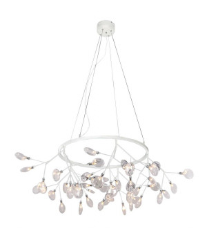 Подвесная люстра Crystal Lux Evita SP45 D White/Transparent